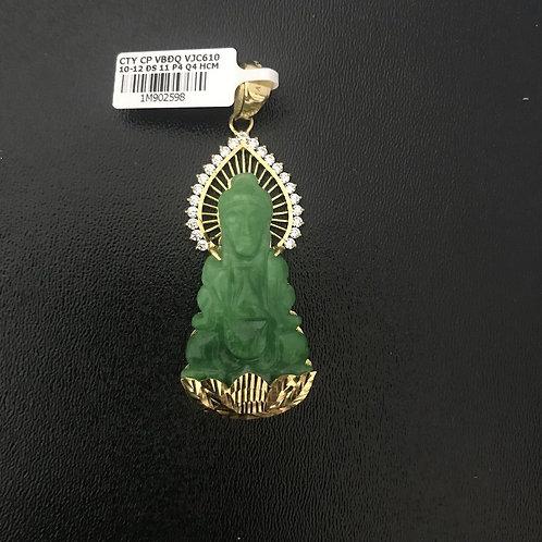 Mặt dây vàng Phật Bà Cẩm thạch