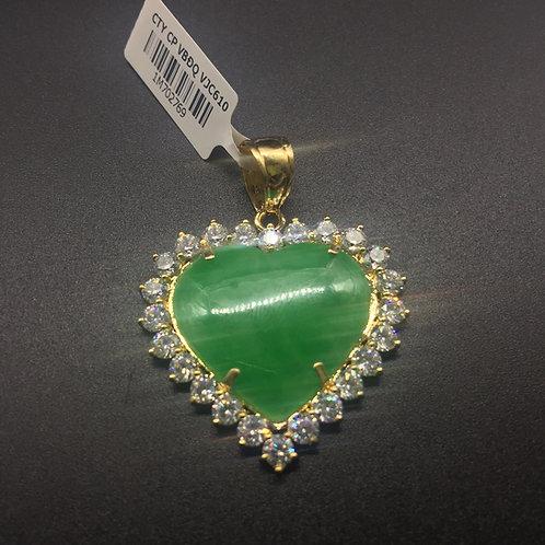 Mặt dây chuyền vàng đá cẩm thạch trái tim VJC 610