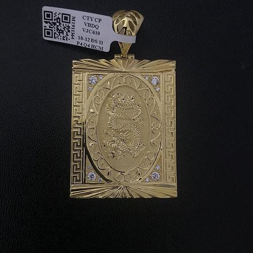 Mặt dây Rồng vàng đá trắng VJC 610