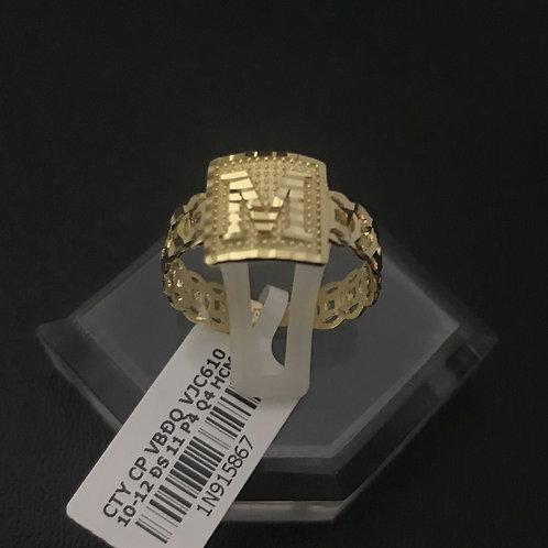 Nhẫn vàng chữ M VJC 610