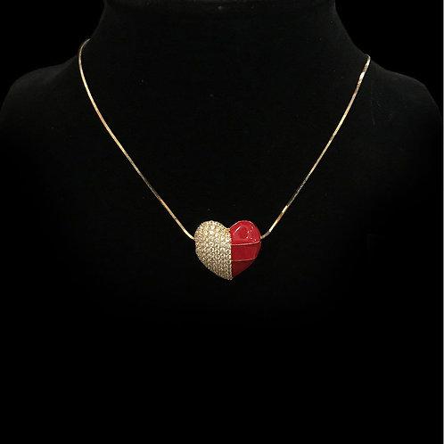 Dây chuyền vàng mặt trái tim VJC 610