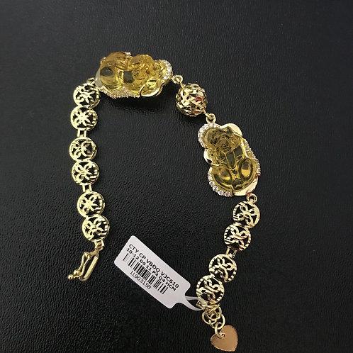 Lắc tay nữ vàng tỳ đá vàng VJC 610