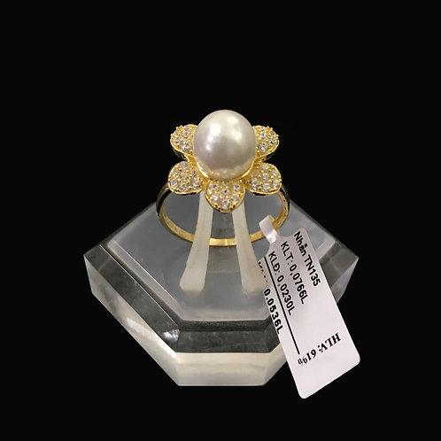 Nhẫn nữ vàng hột bẹt
