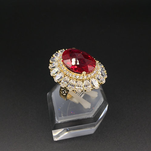 Nhẫn vàng nữ đá đỏ VJC 610