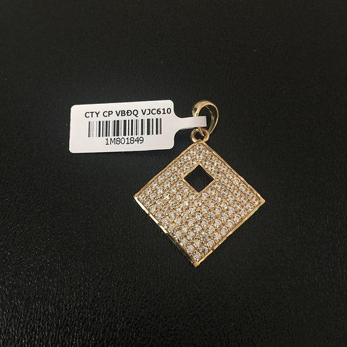 Mặt dây chuyền vàng hình vuông VJC 610
