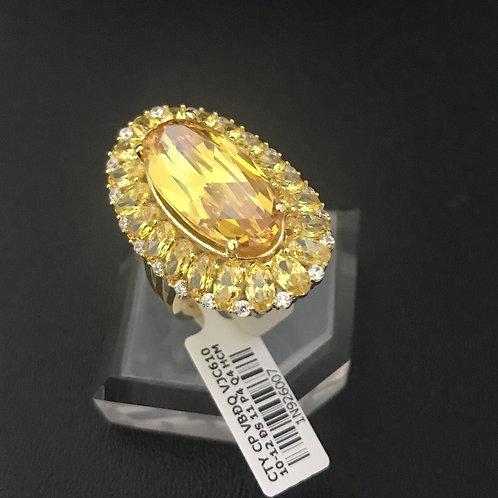 Nhẫn nữ hoa vàng đá vàng VJC 610