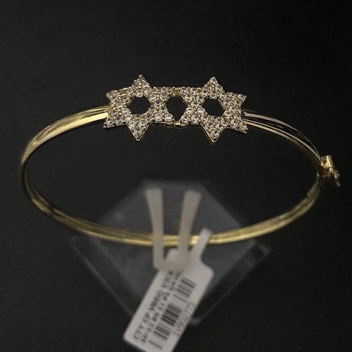 Vòng tay ngôi sao vàng đá trắng VJC 610