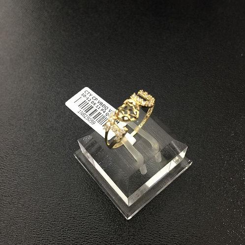 Nhẫn nữ vàng I love you đá trắng VJC 610