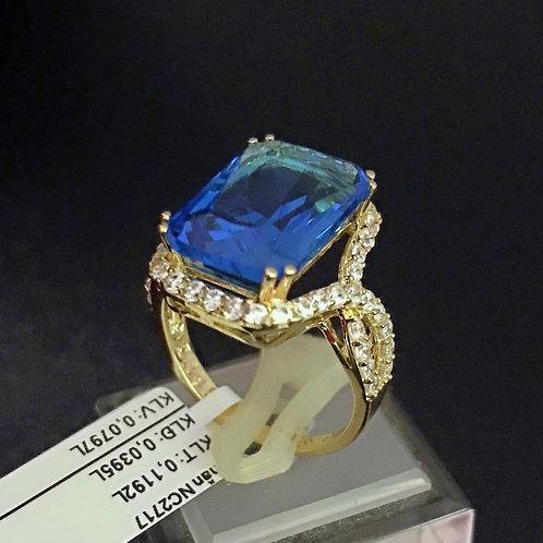 Nhẫn nữ vàng đá Xanh biển