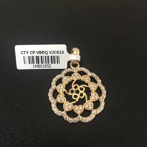Mặt dây chuyền vàng hoa tim VJC 610