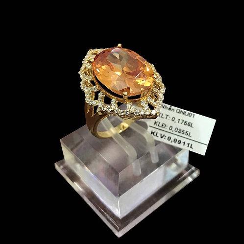 Nhẫn nữ vàng đá màu vàng VJC 610
