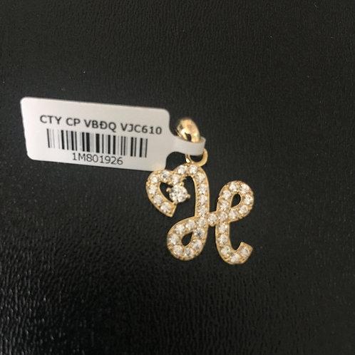 Mặt dây chuyền vàng chữ H - VJC 610