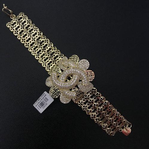 Lắc tay nữ vàng chanel đá trắng - VJC 610