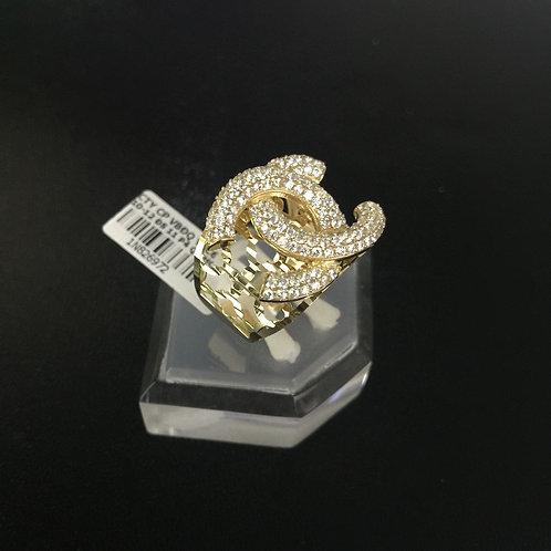 Nhẫn nữ vàng chanel đá trắng VJC 610