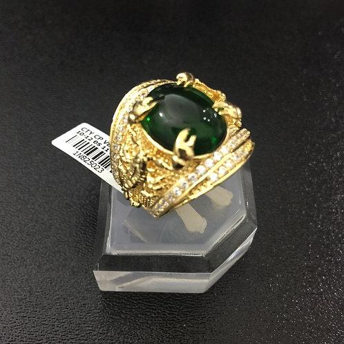 Nhẫn nam bọ cạp vàng đá Xanh lá cây VJC 610