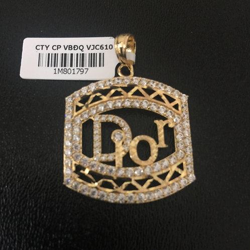 Mặt dây chuyền vàng dior VJC 610