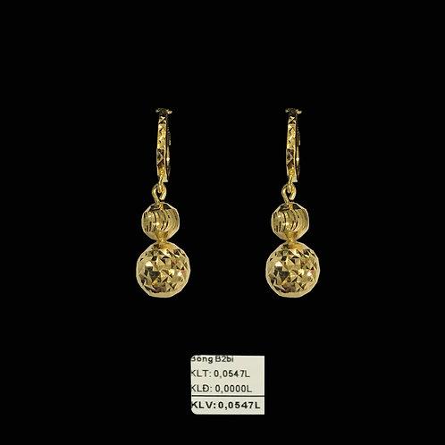 Bông tai hai bi vàng tòng teng VJC 610