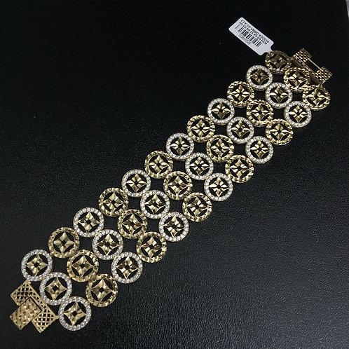 Lắc tay vàng đồng tiền dây ba VJC 610