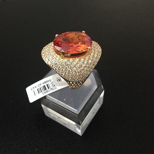 Nhẫn vàng nữ đá màu cam VJC 610