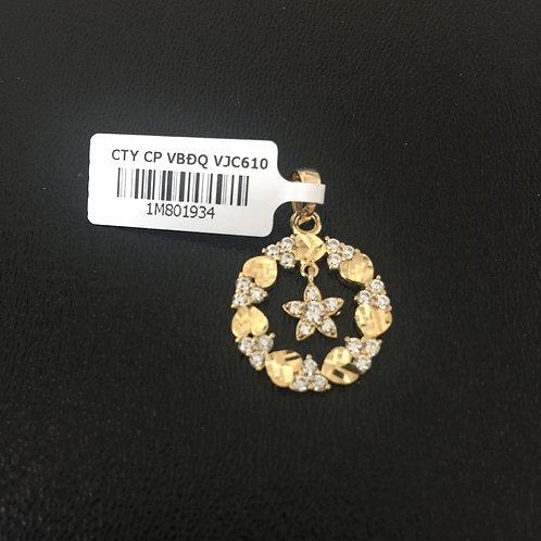 Mặt dây chuyền vàng vòng nguyệt quế VJC 610