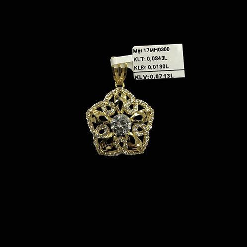 Mặt dây vàng đá trắng VJC 610