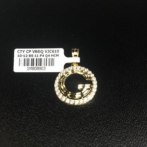 Mặt dây chuyền vàng gucci đá trắng VJC 610