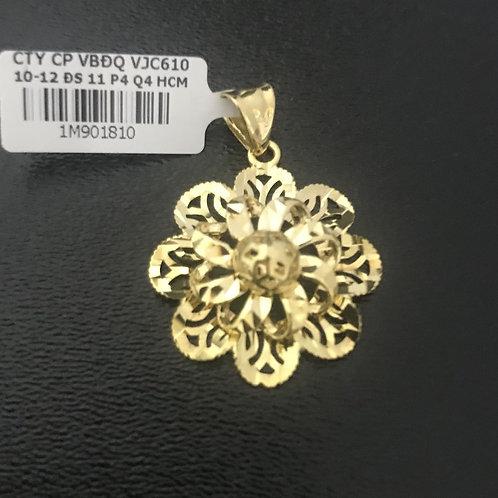 Mặt dây chuyền hoa vàng VJC 610