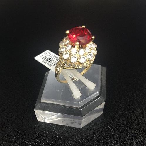Nhẫn vàng nữ hoa đá đỏ VJC 610