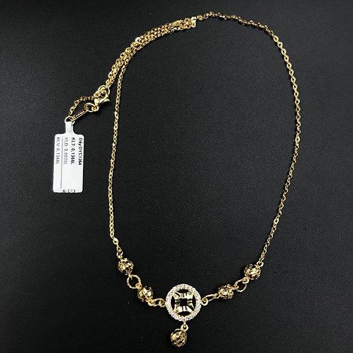 Dây chuyền kim tiền vàng VJC 610