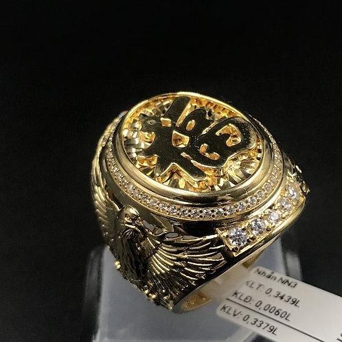 Nhẫn nam Phượng Hoàng vàng chữ Phước