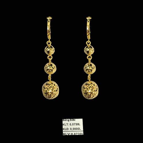 Bông tai ba bi vàng tòng teng VJC 610