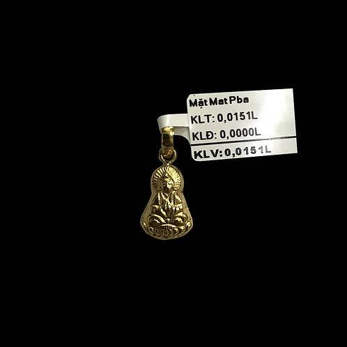 Mặt dây Phật Bà vàng VJC 610