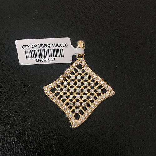 Mặt dây chuyền vàng hình thoi VJC 610