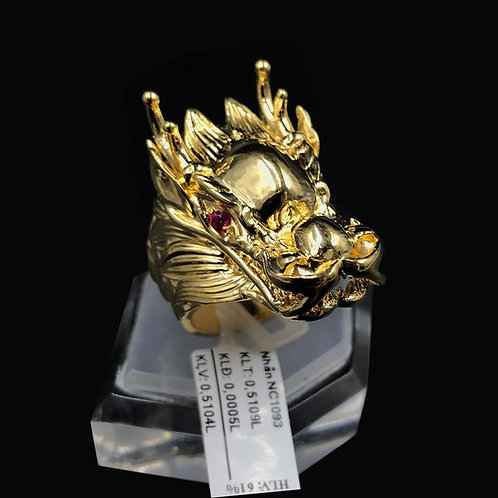 Nhẫn nam đầu Rồng vàng đá đỏ VJC 610