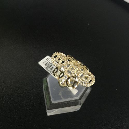 Nhẫn nữ vàng đồng tiền đá trắng VJC 610