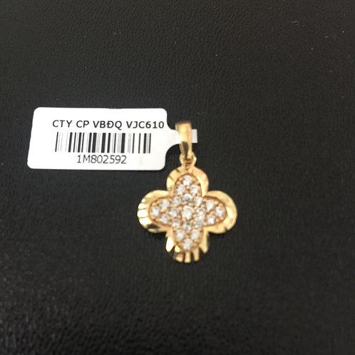 Mặt dây chuyền vàng nữ đá trắng VJC 610