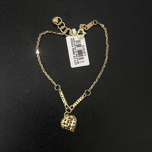 Lắc tay nữ vàng trái tim VJC 610