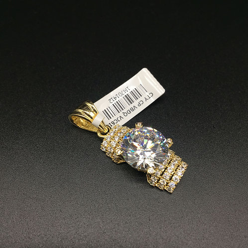 Mặt dây chuyền vàng nữ đá trắng lớn VJC 610