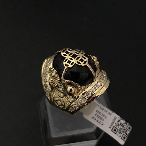 Nhẫn nam Đồng tiền đá đen VJC 610