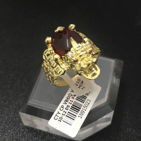 Nhẫn nữ cóc vàng đá đỏ VJC 610