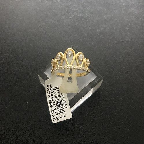 Nhẫn vàng Vương Miện đá trắng VJC 610