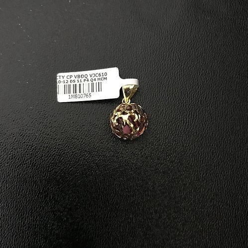 Mặt dây chuyền cầu vàng đá đỏ VJC 610