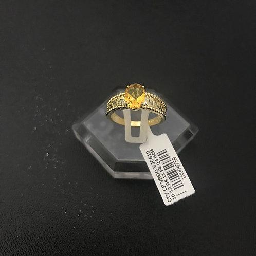 Nhẫn nữ hoa văn đá màu vàng VJC 610