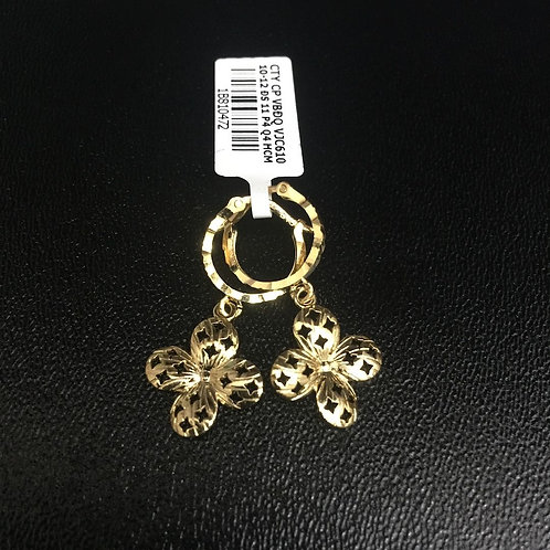 Bông tai vàng hoa VJC 610