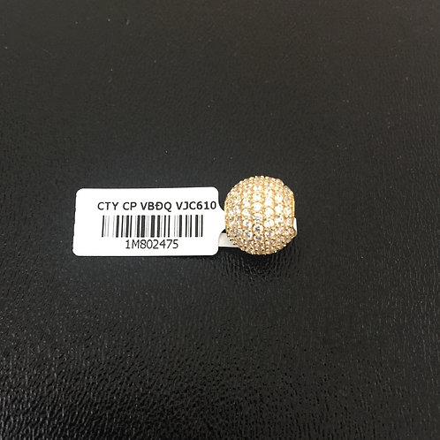 Mặt dây chuyền vàng bi tròn đá trắng VJC 610