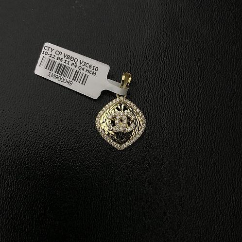 Mặt dây chuyền vàng Chanel đá trắng VJC 610