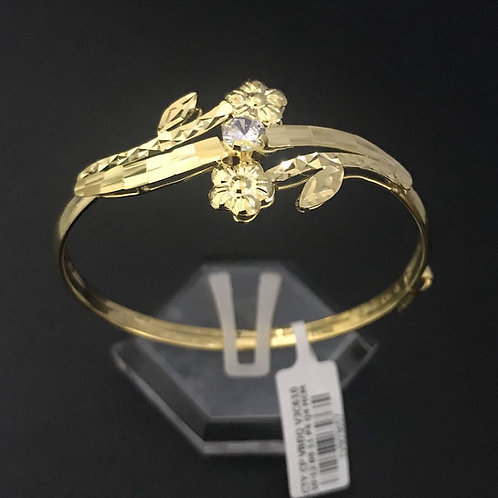 Vòng tay hoa vàng đá trắng VJC 610