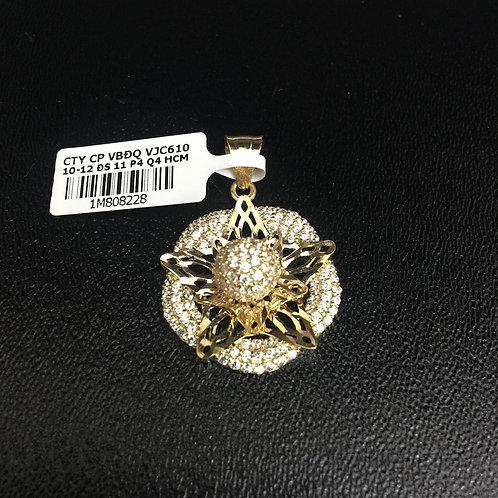 Mặt dây chuyền vàng ngôi sao đá trắng VJC 610