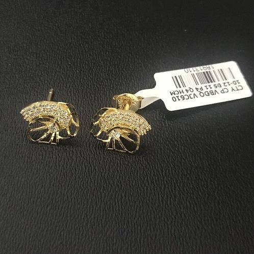 Bông tai vàng đá trắng - VJC 610