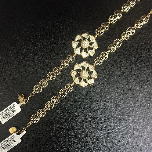 Lắc tay vàng nữ hoa VJC 610